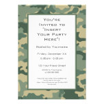 Party Invitation: Military Camouflage