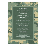 Party Invitation: Military Camouflage 13 Cm X 18 Cm Invitation Card