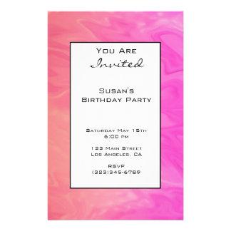 Party Invitation Pink Orange Texture 14 Cm X 21.5 Cm Flyer