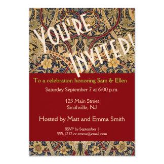 Party Invitation Template William Morris Custom