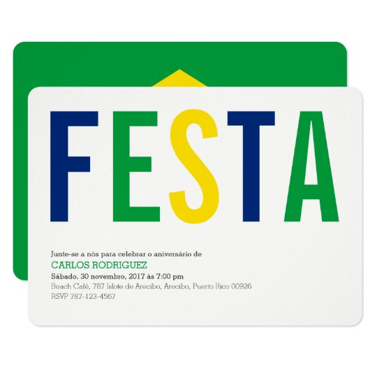 Party: Invitations: Brazil: Peruvian Flag Card
