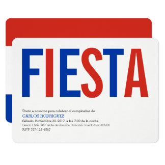 Party: Invitations: Paraguay: Paraguayan Flag Card