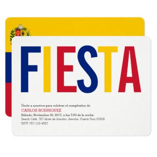 Party: Invitations: Venezuela: Venezuelan Flag Card