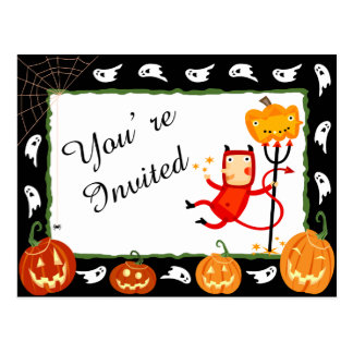 Party Invite - Halloween Postcard