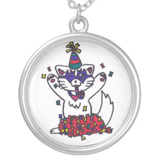 Party kitten necklace
