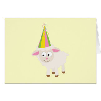 Party Lamb Note Card