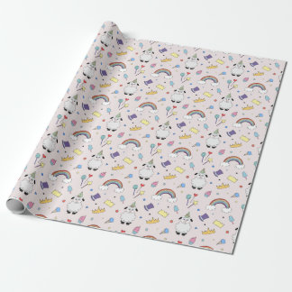 Party Lamb On Pink Wrapping Paper