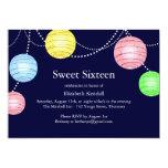 Party Lantern Sweet 16 Invitation