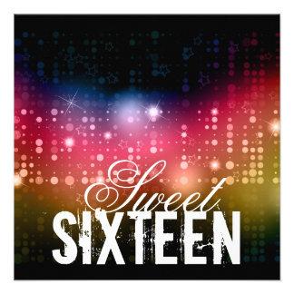 Party Lights Sweet Sixteenth Birthday Invitation