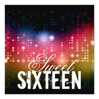 Party Lights Sweet Sixteenth Birthday Invitation