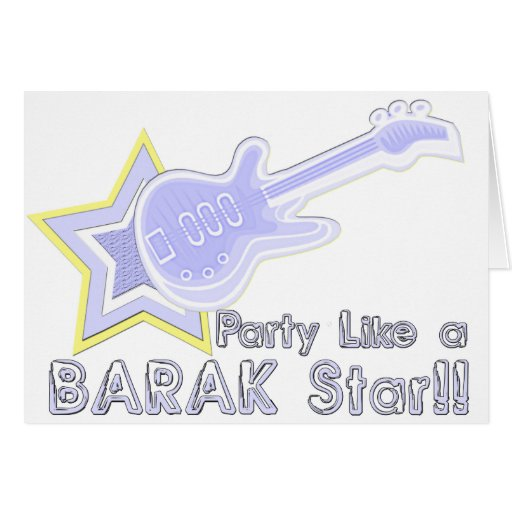 Party Like a Barak Star Greeting Cards