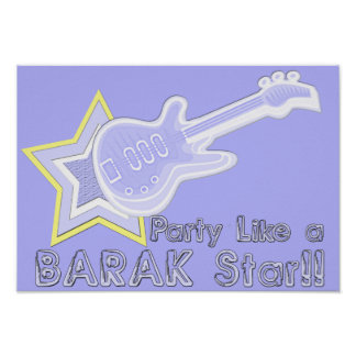 Party Like a Barak Star Posters