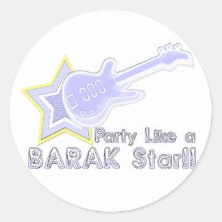 Party Like a Barak Star Round Sticker