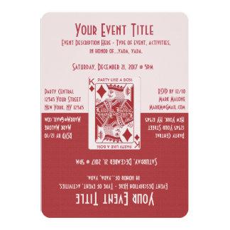 Party Like a Boss 13 Cm X 18 Cm Invitation Card