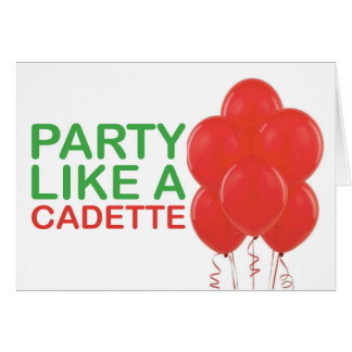 Party Like A Cadette Birthday Card
