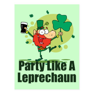 Party Like a Leprechaun Postcard