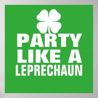 Party Like a Leprechaun Poster