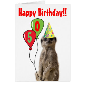 Party Like a Meerkat Birthday Card