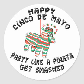 Party Like A Pinata Cinco de Mayo Classic Round Sticker