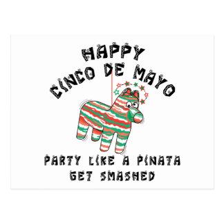 Party Like A Pinata Cinco de Mayo Postcard