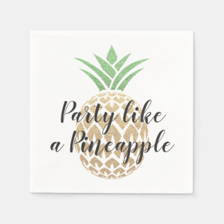 Party Like a Pineapple Birthday or Wedding Disposable Serviette