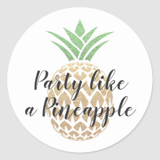 Party Like a Pineapple Birthday Sticker