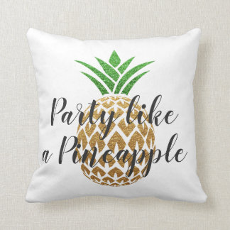 Party Like a Pineapple Tropical Birthday Cushion