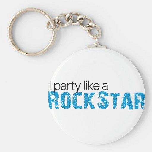 Party Like a Rockstar T-shirt Keychains