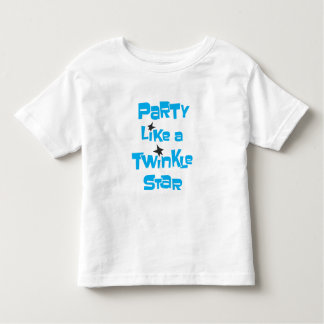Party Like a Twinkle Star - Toddler White T-shirt