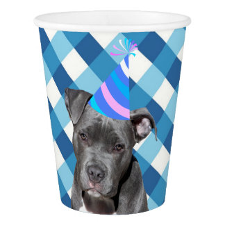 Party Like An Animal Black Dog With Birthday Hat Paper Cup
