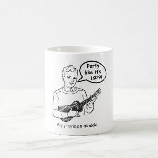 Party Like It's 1929! (Ukulele) Basic White Mug