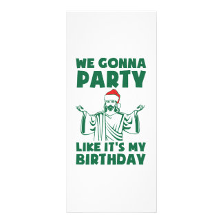 Party Like It's A Christmas Birthday Rack Card