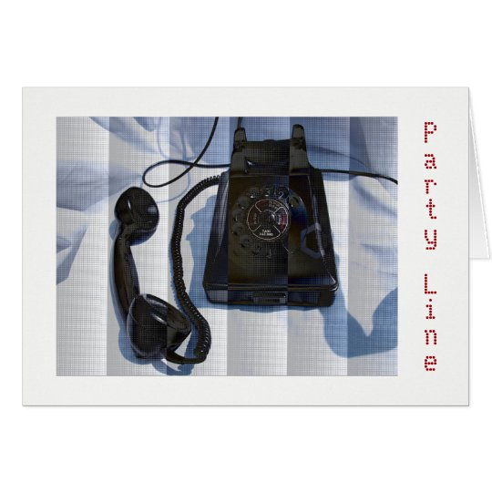 Party Line Vintage Telephone Greeting Card