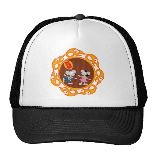 Party Mice 5th Birthday Gifts Mesh Hat