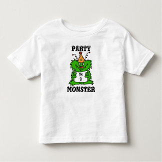 Party monster personalized birthday shirt