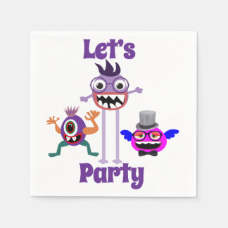 Party Monster Standard Cocktail Napkins Disposable Napkin