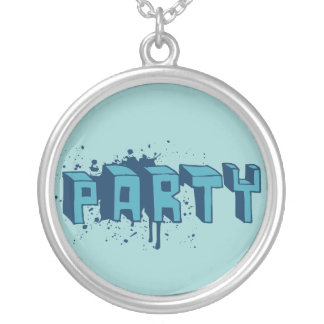 Party Round Pendant Necklace