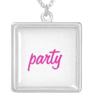 party square pendant necklace
