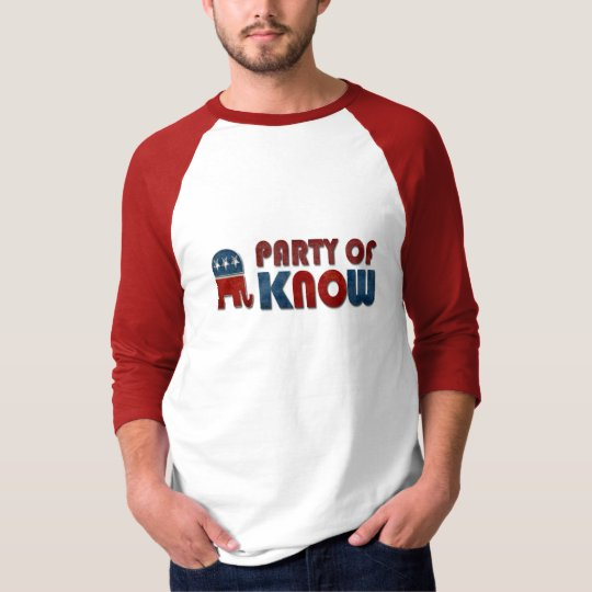 Party of Know Funny GOP T-Shirt