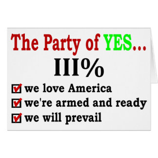 Party of Yes Greeting Cards