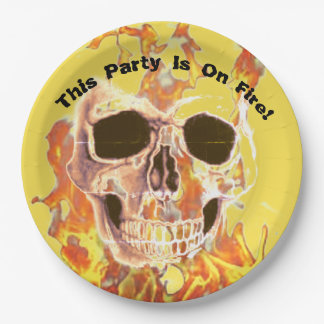 Party On Fire Paper Plate