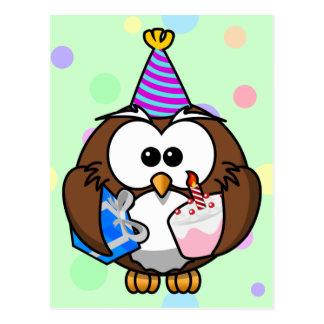 party owl postcard