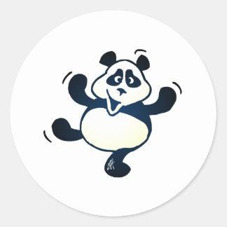 Party Panda Round Stickers
