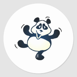 Party Panda Round Stickers