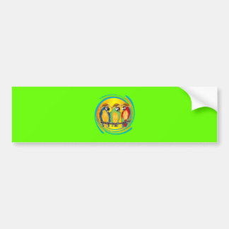 PARTY PARROTS BUMPER STICKER