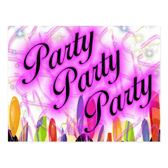 Party Party Party Postcard
