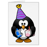 Party Penguin Cute Cartoon Greeting Card