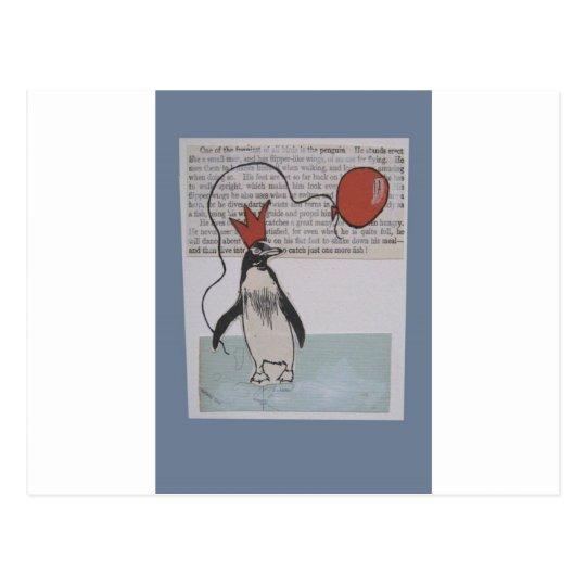party penguin postcard