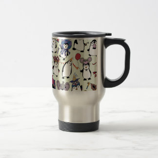 Party Penguins in Disguise Travel Mug