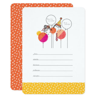 "Party People 4.5"" x 6.25"" Invitations"